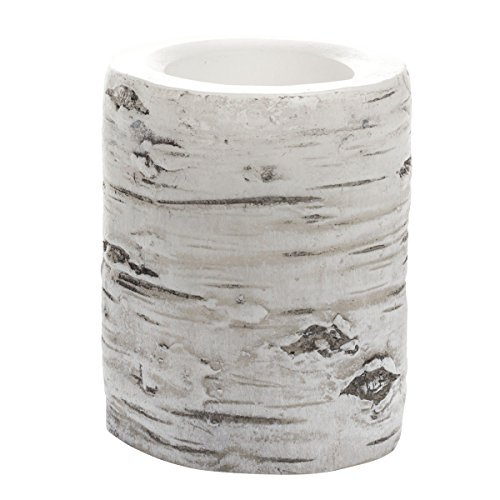 Candle Impressions Flameless LED Real Wax 4'' White Birch Bark Pillar