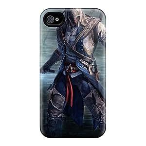 Scratch Protection Hard Phone Cases For Iphone 4/4s (QdR6829SGpz) Unique Design Vivid Assassins Creed Pattern