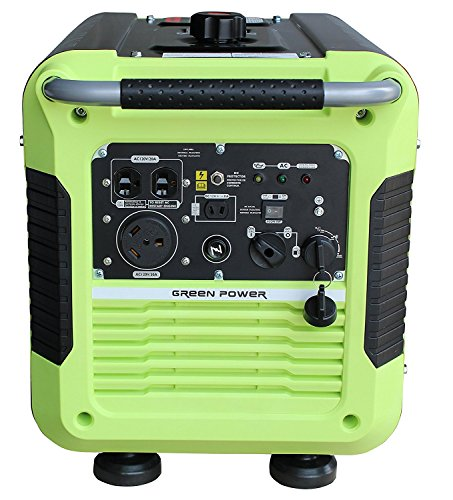 3500W Inverter Generator, Green/Black - Green-Power America GPG3500iE