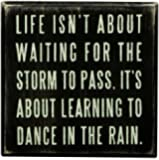 Primitives By Kathy Box Sign, Dance In The Rain,4x4 Inch