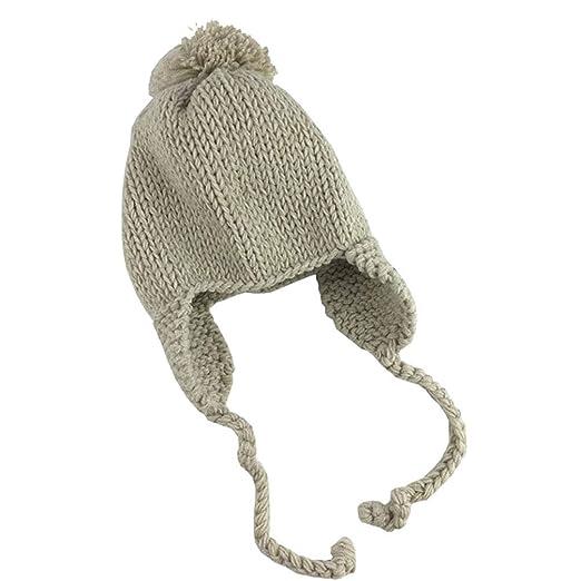 Amazon.com  Pogah Kids Beanie Hat Pom - Toddler Boys Girls Winter Earflap  Knit Hats  aeff149ea8d9
