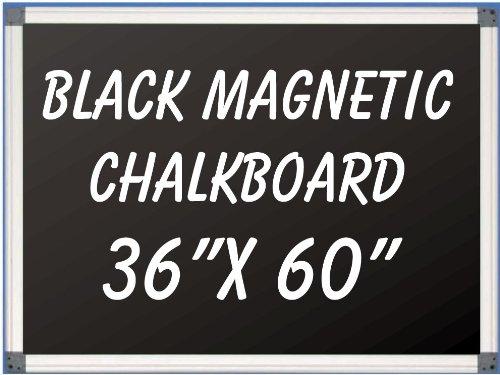 NEOPlex 36'' x 60'' Aluminum Framed Black MAGNETIC Chalkboard by NEOPlex
