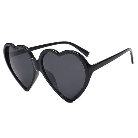 Kimruida - Gafas de Sol con Forma de corazón para Mujer ...