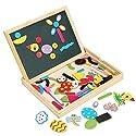 gracelove Kids図面ボードおもちゃ磁気パズルゲームDry Erase Board