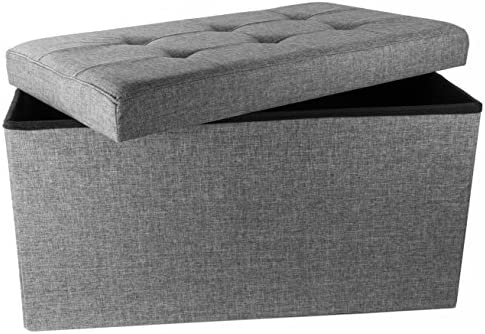 Red Co. Upholstered Folding Storage Ottoman