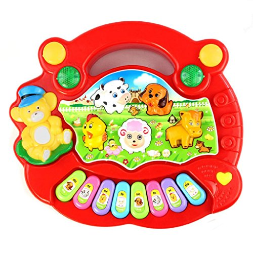 Development Toys Baby Kid New Red Useful Popular Animal Farm Piano Music Toy Laimeng