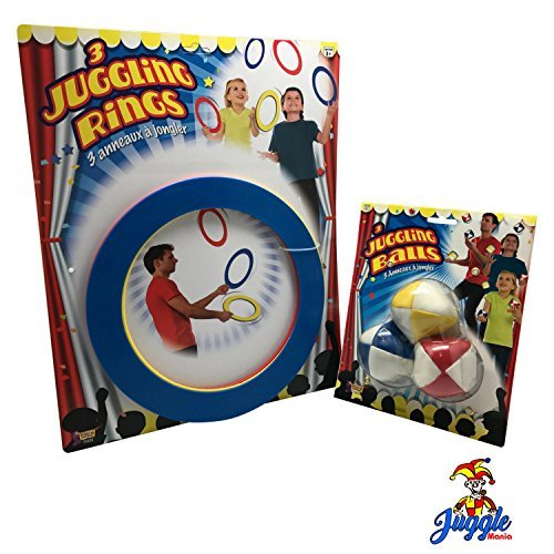 Juggling Set For Beginners-Includes Juggling Balls and Juggling Rings by Juggle (Juggling Rings Set)