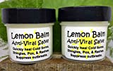 LEMON BALM Anti-Viral Salve SET of 2! Quickly heal Cold Sores, Shingles, Blisters, Pox, Rashes, Herpes, Molluscum, Bug Bites. Suppress future outbreaks. 100% Natural. ''Goodbye, itchy red bumps!''