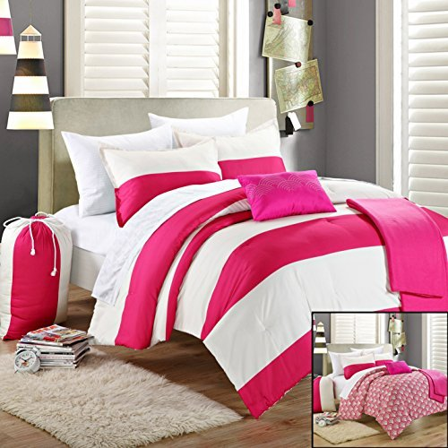 Chic Home 9-Piece Ruby Comforter Set with Shams Decorative P