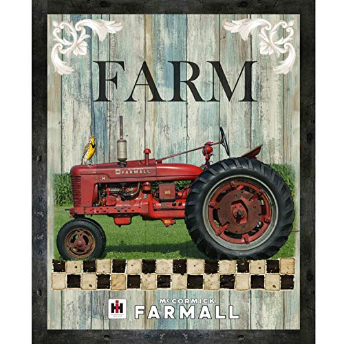(Farmall Tractor Hometown Life Panel by Sykel Enterprises 100% Cotton Quilt Fabric 10210-X - 35