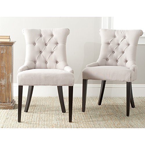 Safavieh Mercer Collection Bowie Dining Chairs, Taupe, Set of 2