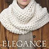 Super Chunky Outlander Cowl KNIT KIT includes soft thick Merino Silk Yarn, #19 extra large knitting needles and written pattern w. photo tutorial. DIY. Elegance Yarn by Living Dreams. IVORY