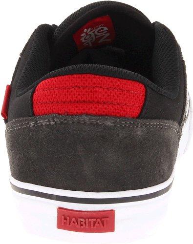 Habitat Footwear Men's Getz Skate Shoe,Black,11.5 US/11.5 M US
