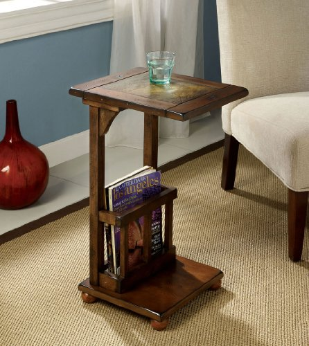 Slate Top Table (Furniture of America CM-AC093 Wilcox Slate-Insert Side Table End Nesting)