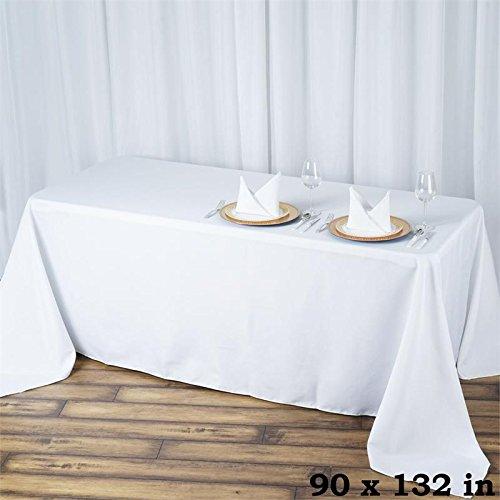 """BalsaCircle 90x132"""" Premium Polyester Rectangular Tablecloth"""