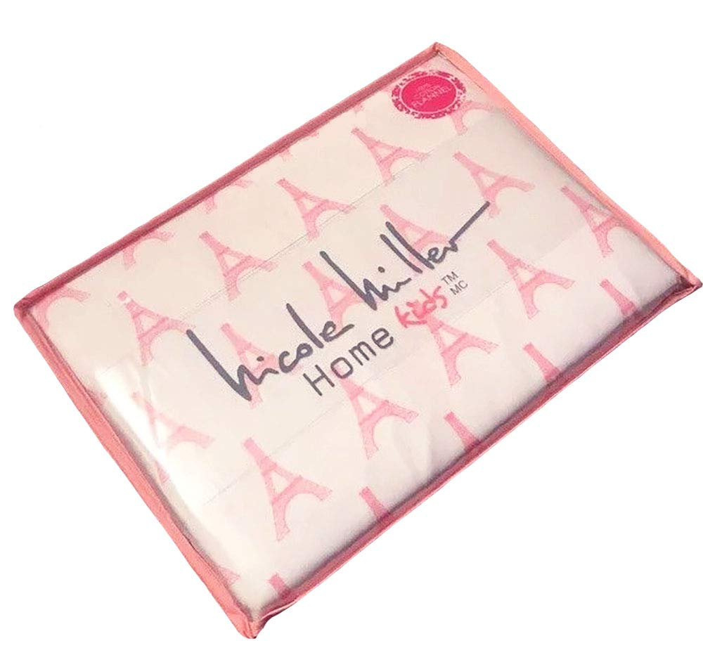 Nicole Miller Twin Size Pink Eiffel Tower Girls Sheet Sets