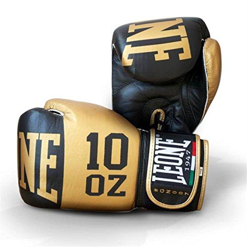 Leone Eliteボクシンググローブ ブラック 14Oz