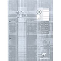 Clairefontaine 5814C Bloc de cours A4, bordé de bordure, A4, 100 feuilles, gris clair