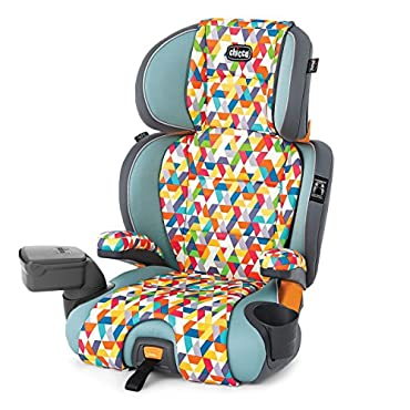 Chicco KidFit Zip 2-1 Belt-Positioning Booster Seat, Wild