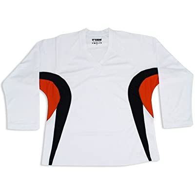 Tron DJ200 Dry Fit Hockey Jersey (White/Orange)