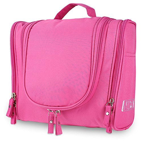 c305f7b52436 Travel Toiletry Bag Hanging Cosmetic Makeup Organizer with - Import It All
