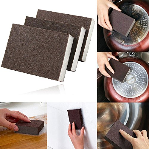 Home Sponge Brush Cleaning Washing Kitchen Carborundum Tool Emery Cleaner - To Glass Car Remove From Scratches At How Home