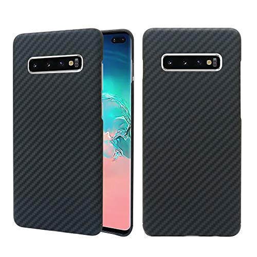 Galaxy Carbon Fiber - Samsung Galaxy S10 Plus Case, 0.7mm Ultra Thin Real Aramid Fiber [Real Body Armor Material] Carbon Fiber Pattern Protective Case Cover for Samsung Galaxy S10 Plus S10+ 2019 Release