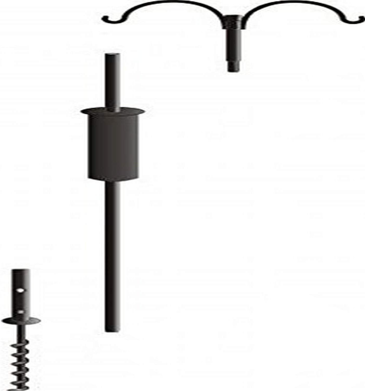 Birds Choice 2 Arm Topper Bird Feeder Pole Set with Squirrel Baffle