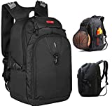 Victoriatourist Extra Large Expandable Laptop Backpack 3 Compartments Fits MacBook Pro/16-inch Laptops and Ipad/Surface, Black (16'')