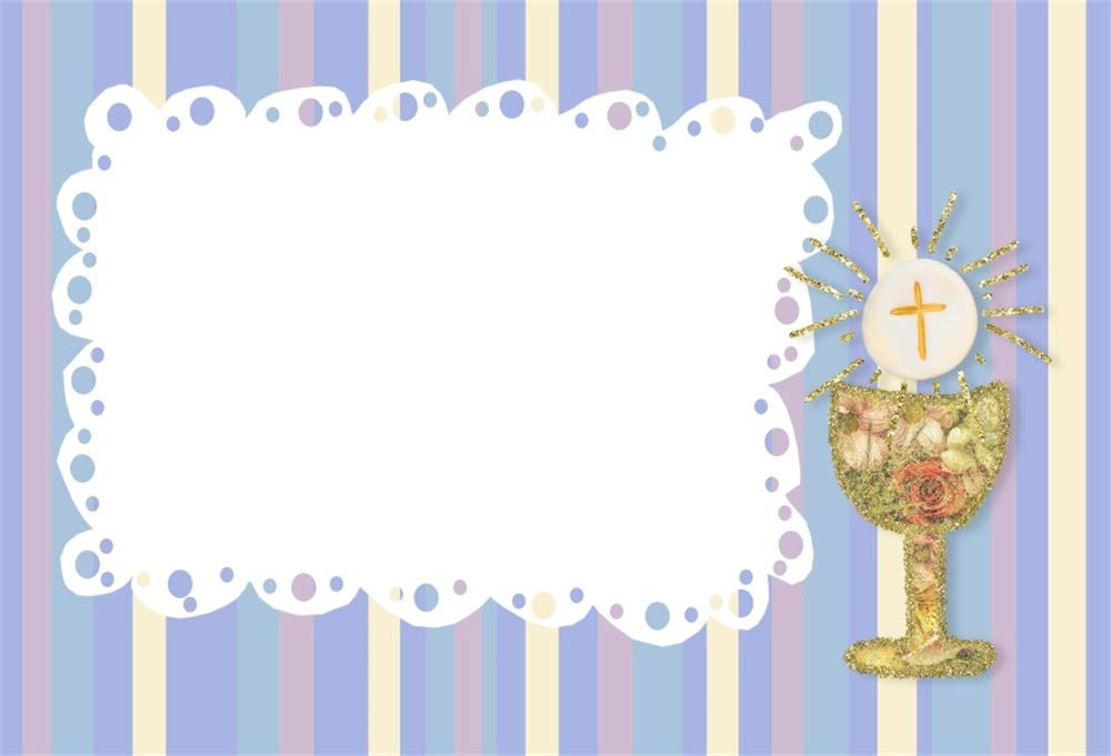 Cassisy 2,2x1,5m Vinilo Bautismo Telon de Fondo Primera Comuni/ón Bautizo Bebita Dios Bendiga Santo Grial Fondos para Fotografia Baby Shower Photo Studio Props Photo Booth