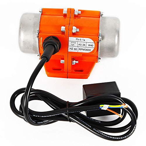 40W Vibration Motor AC110V 3600rpm Industrial Single Phase Asynchronous Vibrator for Shaker Table (40W)
