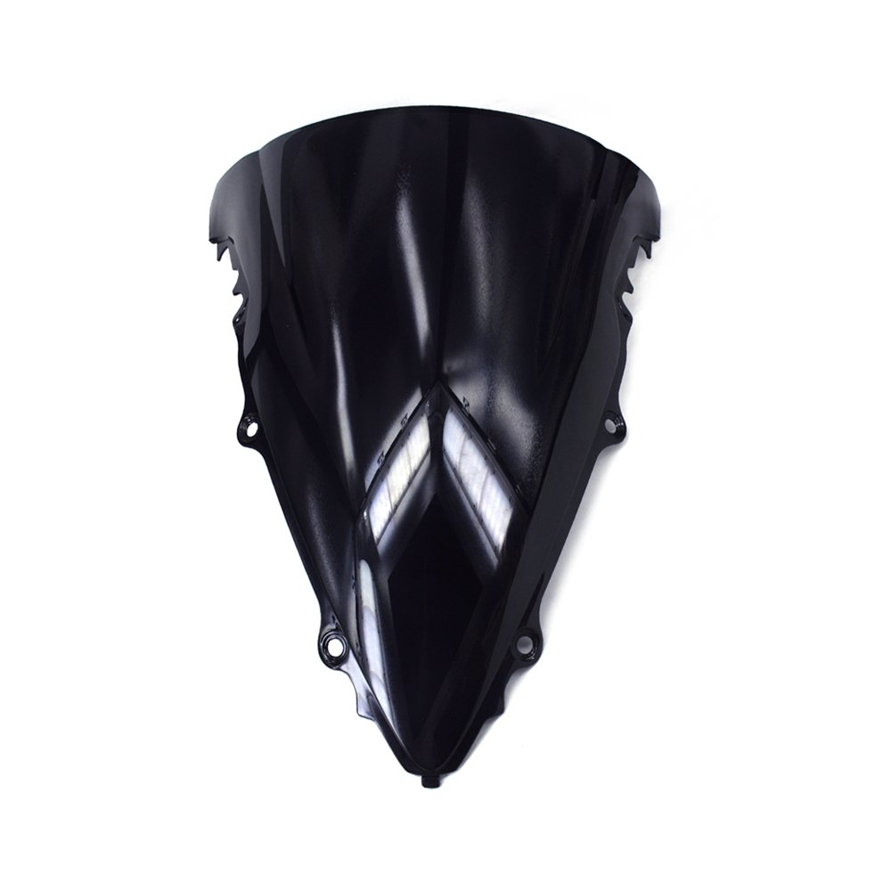JFG RACING Black Windshield Windscreen Screen ABS Shield For Yamaha YZF R1 YZF-R1 2015 2016