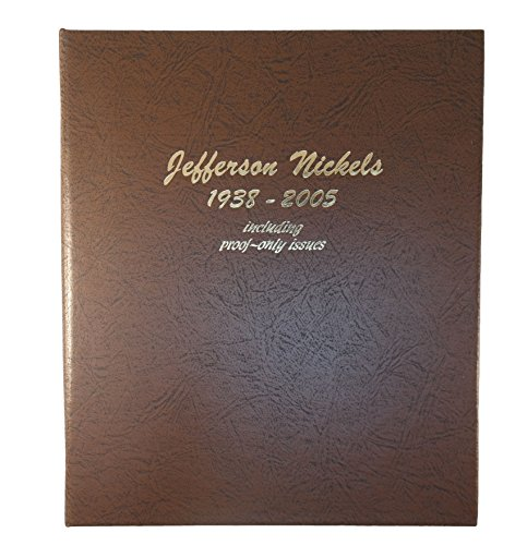 Dansco US Jefferson Nickel with Proof Coin Album 1938 - 2005 - Including Nickels Jefferson Proof
