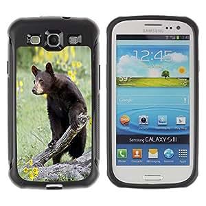 Suave TPU GEL Carcasa Funda Silicona Blando Estuche Caso de protección (para) Samsung Galaxy S3 III I9300 / CECELL Phone case / / Funny Curious Bear In The Field /