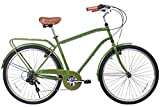Cheap Gama Bikes City 26-Inch Postino 6 Speed Shimano Hybrid Urban Commuter Road Bicycle, 19.5-Inch, Olive Green