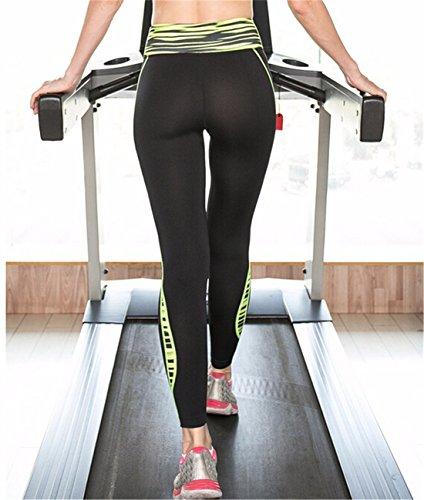 QIYUN.Z Nuevos Impresos De Deportes Del Hogar Las Mujeres De Gimnasio Delgado Apretado En Marcha De Yoga Pantalones Largos Pantalones Verde Impresa