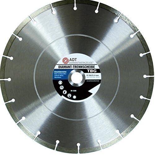 ADT Diamant Trennscheibe Beton Granit /Ø 350mm 20mm Bohrung
