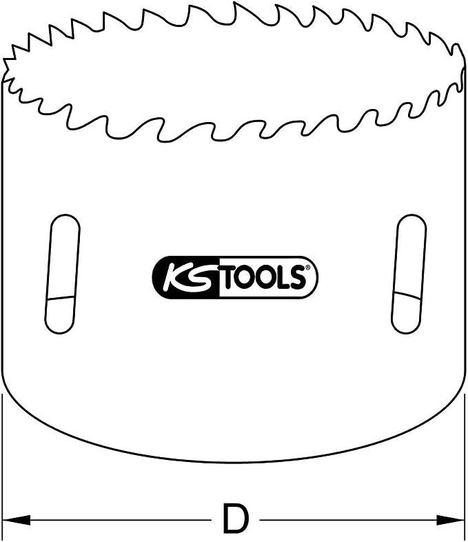 KS Tools 129.5050 Corona perforadora de bimetal de HSS (Ø 50 mm ...