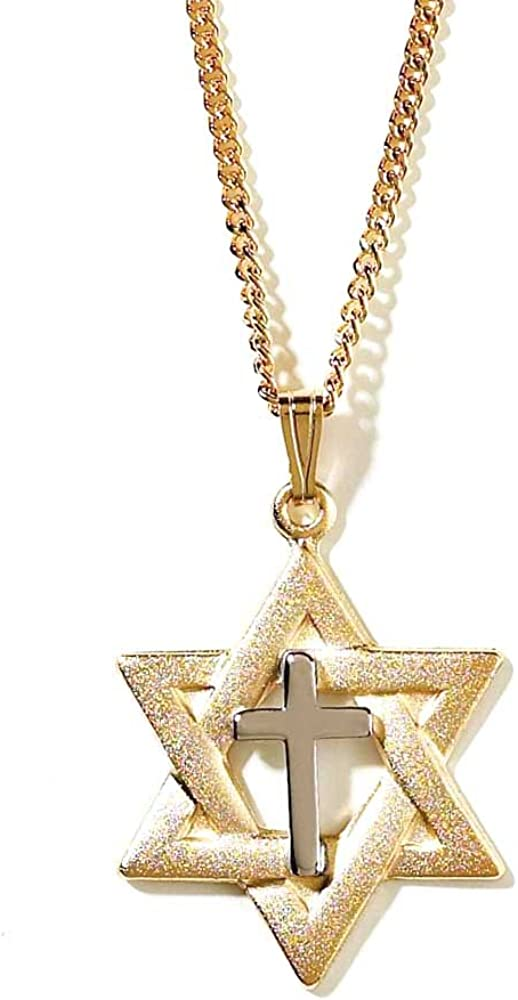 Rhodium-plated 925 Silver Star of David Pendant with 18 Necklace Jewels Obsession Silver Star Of David Necklace