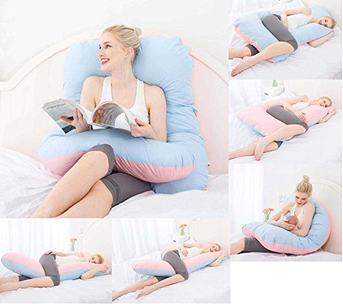 Contoured Body Pillow by Meiz – U Shaped – Full Support –...