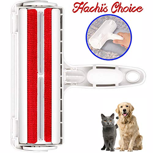Hachi's Choice Reusable Pet Hair Remover for Furniture,Lint Roller,Remove Dog Cat Hair from Furniture, Carpets, Bedding, Clothing, Sofa and More (Red) ()