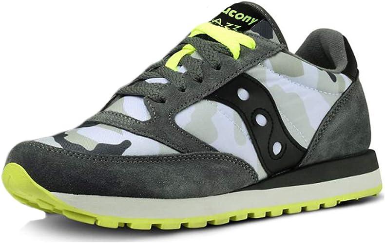 Saucony Men's Shoes Jazz Grey Camo Neon