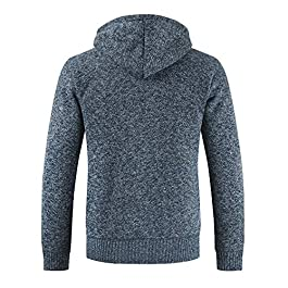 Sumen Men Casual Cardigan Fleece Full Zip Hoodie Sweatshirt Jacket Outwear