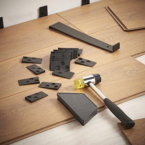 Vonhaus laminate wood flooring installation kit with 30 for Wood floor knocking block