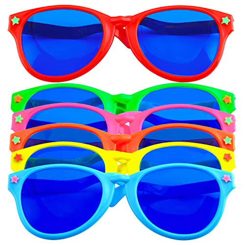 Goofy Sunglasses - Coobey 6 Pieces Jumbo Plastic Sunglasses