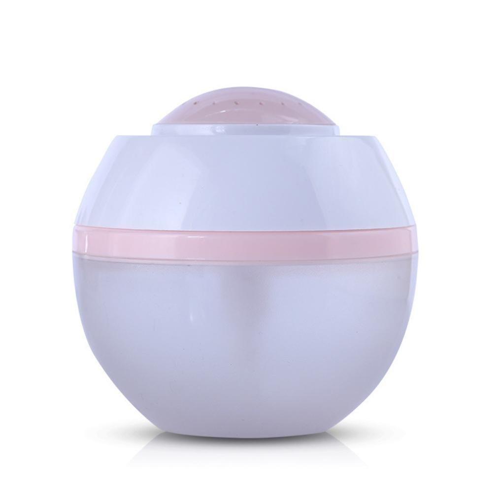 Liu Nian 500ML Cool USB Pumpkin Wood Grain Mist Humidifiers Ultrasonic Aroma Essential Oil Diffuser for Bedroom Office Car Large Rooms (Pink)