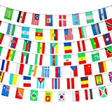 Amapon 200 Countries Flags,164 Feet World Flags,Decorations International Flags,World Party Decoration,World Cup Olympics Flags,String Flags,Bunting Banner Bar-Sports Clubs-Grand Opening For Sale
