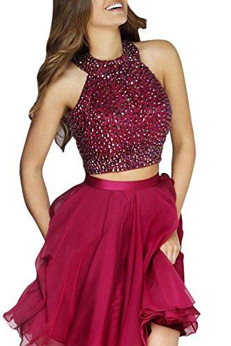 2 Piece Halter Evening Gown - 6