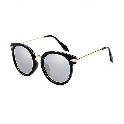LIZHIQIANG Gafas De Sol Polarizadas Gafas De Sol Retro Gafas Redondas Rostro Femenino Gafas Personalizadas (