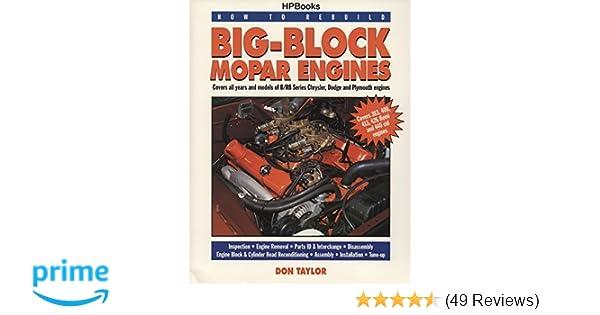 Big-Block Mopar Engines (How to Rebuild): Don Taylor